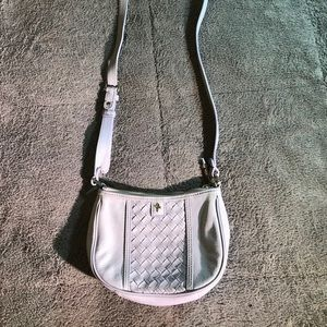 Cole Haan periwinkle blue genuine leather bag
